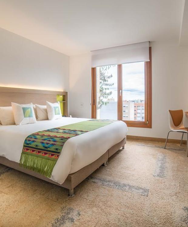 Habitación deluxe estándar Biohotel Organic Suites Bogotá