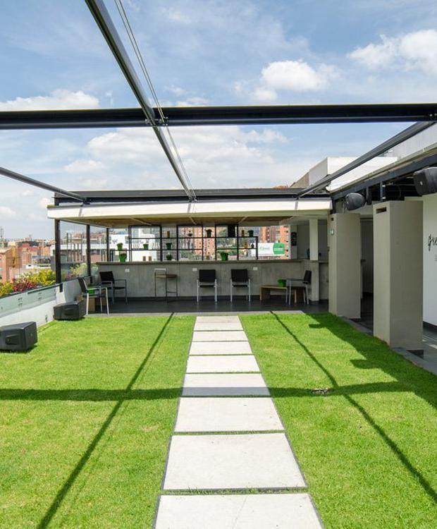 Terraza Biohotel Organic Suites Bogotá